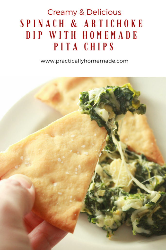 spinach and artichoke dip recipe | spinach and artichoke dip easy | spinach and artichoke dip | spinach and artichoke dip recipe baked | spinach and artichoke dip with mayo | spinach and artichoke dip appetizer | pita chips recipe | pita chips baked | pita chips homemade