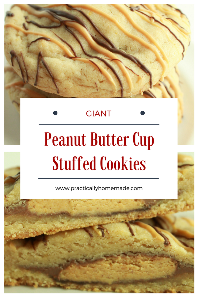 peanut butter cup stuffed cookies | peanut butter cup cookies | peanut butter cup dessert | peanut butter cup dessert recipes | peanut butter cup dessert ideas | peanut butter cup dessert reeses | stuffed cookies | stuffed cookie recipes