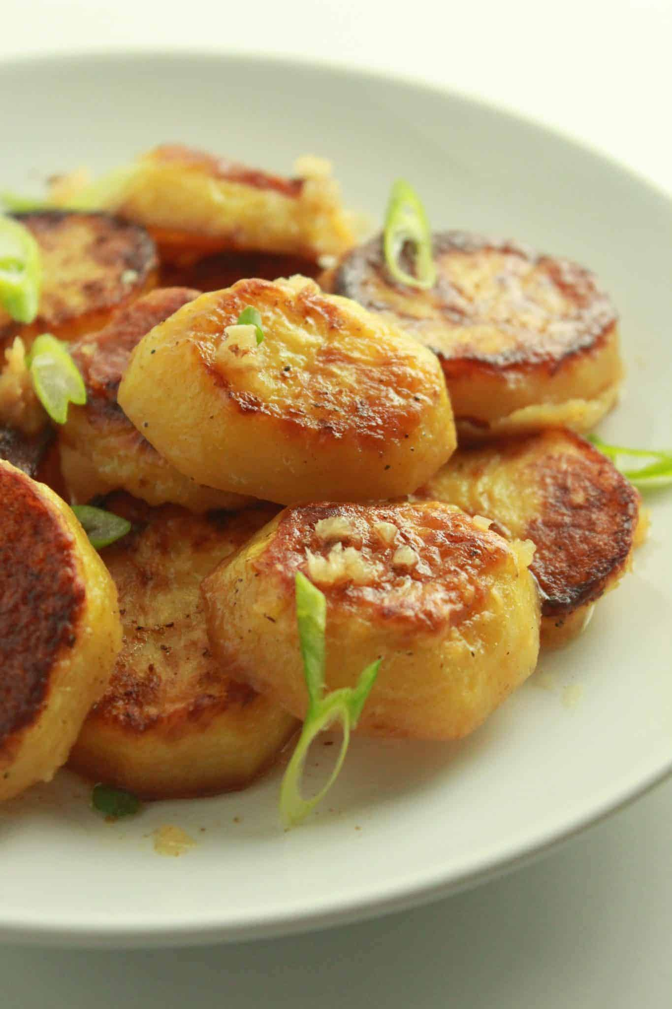 Roasted Melting Potatoes Recipe featured by top US food blog, Practically Homemade