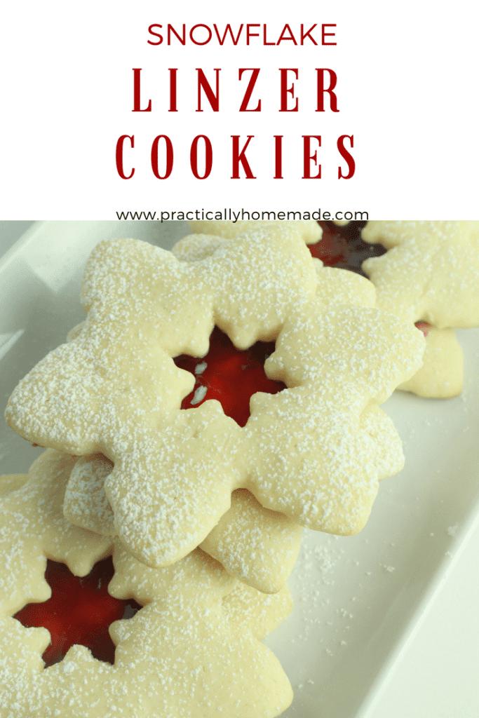 snowflake linzer cookies | linzer cookies | linzer cookies recipe | lizer cookies easy