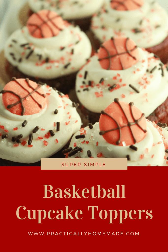 basketball cupcake toppers   basketball cupcake topper ideas   basketball cupcakes   basketball cupcakes easy   cupcake toppers diy   cupcake toppers
