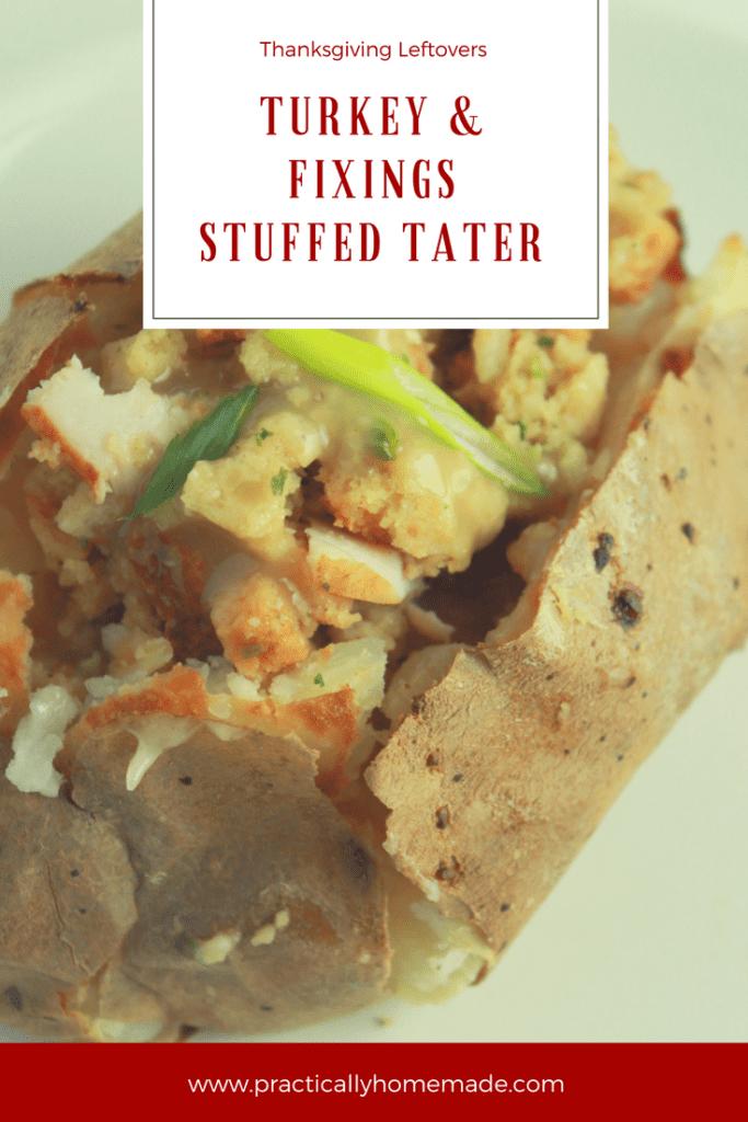 turkey dinner leftovers | turkey dinner leftovers recipes | turkey dinner leftovers ideas | turkey dinner recipes leftover | stuffed tater | turkey baked potato | turkey stuffed tater