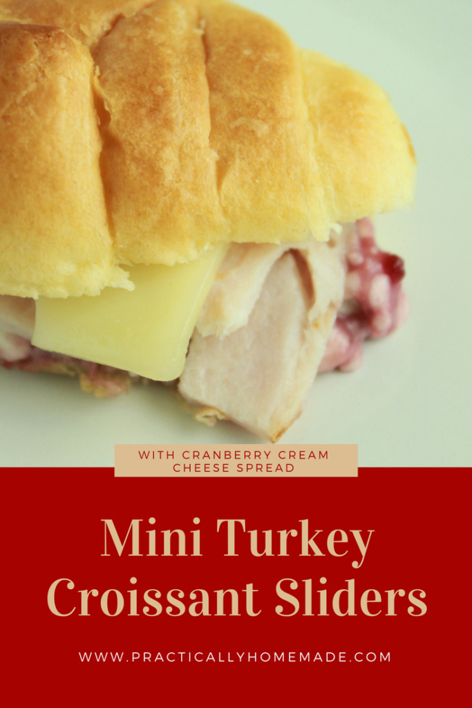 turkey cranberry sandwich | turkey cranberry sliders | turkey croissant sandwich | turkey croissant sandwich recipe | turkey and cranberry