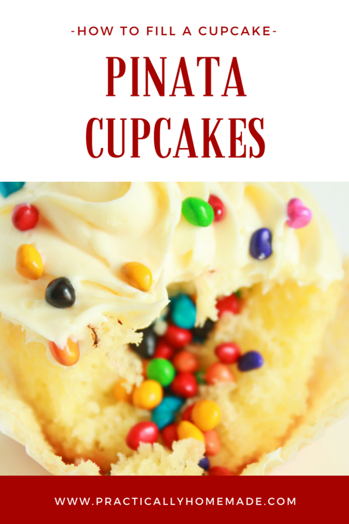 Pinata Cupcakes   Pinata Cupcakes DIY   Pinata Cupcakes Ideas   Pinata Cupcakes Cake   How to Fill a Cupcake   How to Fill a Cupcake with Filling   How to Fill a Cupcake Tutorials
