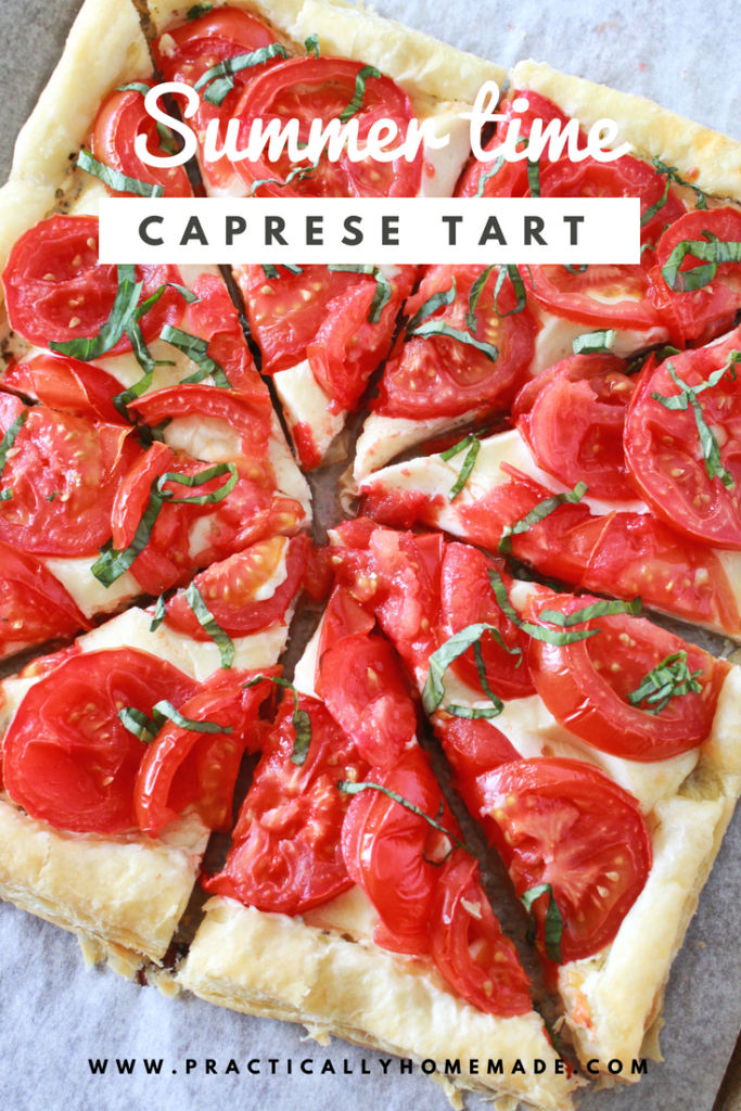 caprese | caprese tart | caprese tart recipe | pesto | pesto recipes | summer side dishes