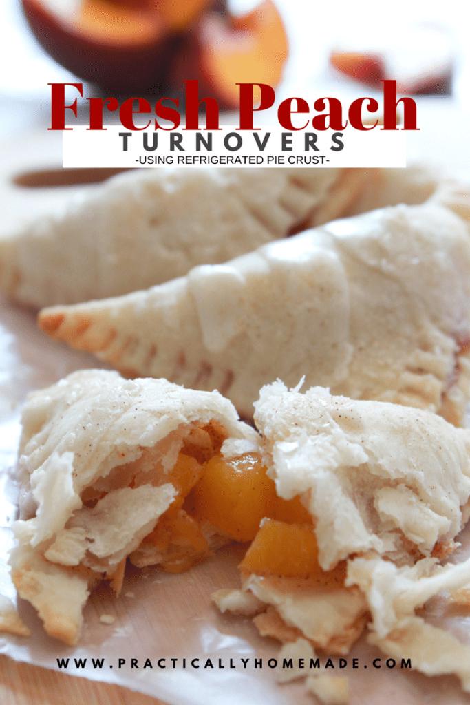 fresh peach recipe | fresh peach turnover | fresh fruit recipes | turnover recipes | handpie recipes