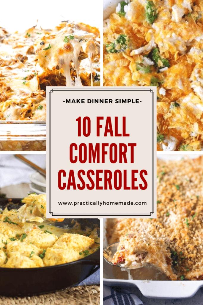 fall comfort casseroles   fall comfort food recipes   casserole recipes   casseroles   dinner ideas