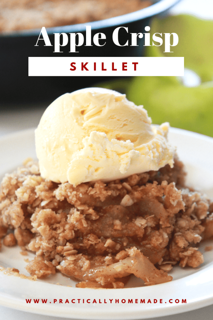 apple crisp skillet | apple crisp | apple recipes | apple crumble | fall dessert | cast iron recipes | cast iron desserts