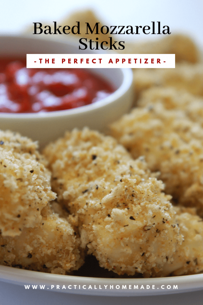baked mozzarella sticks | mozzarella sticks | baked appetizer | cheese stick appetizer recipe | cheese recipe | super bowl appetizer
