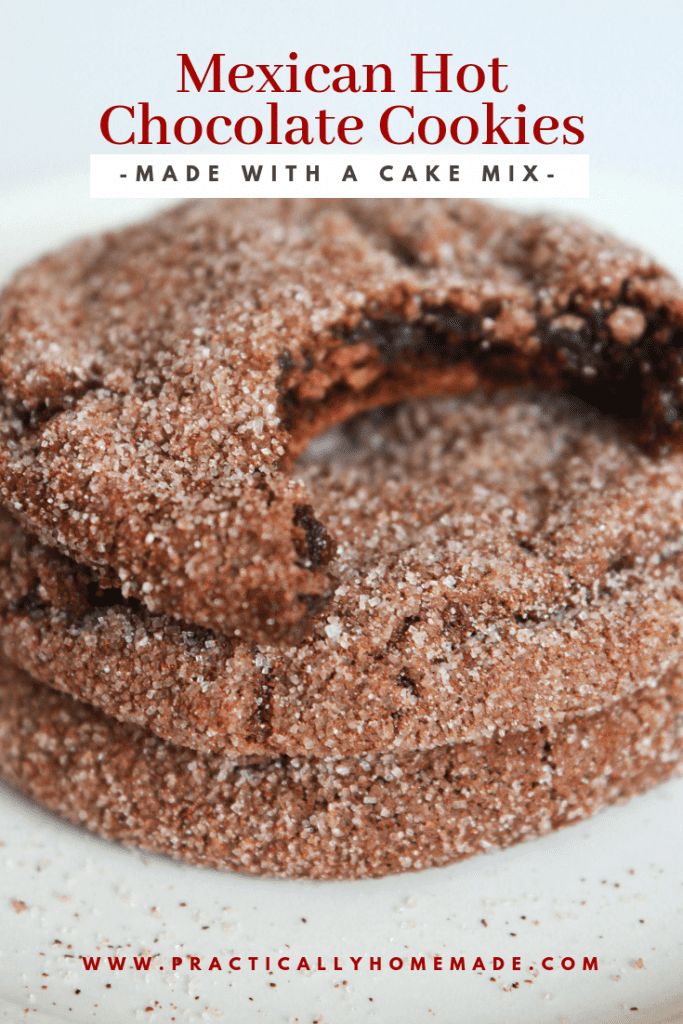 mexican hot chocolate cookie | cake mix cookie | chocolate snickerdoodle | mexican hot chocolate dessert | soft cookie recipe | cake mix dessert