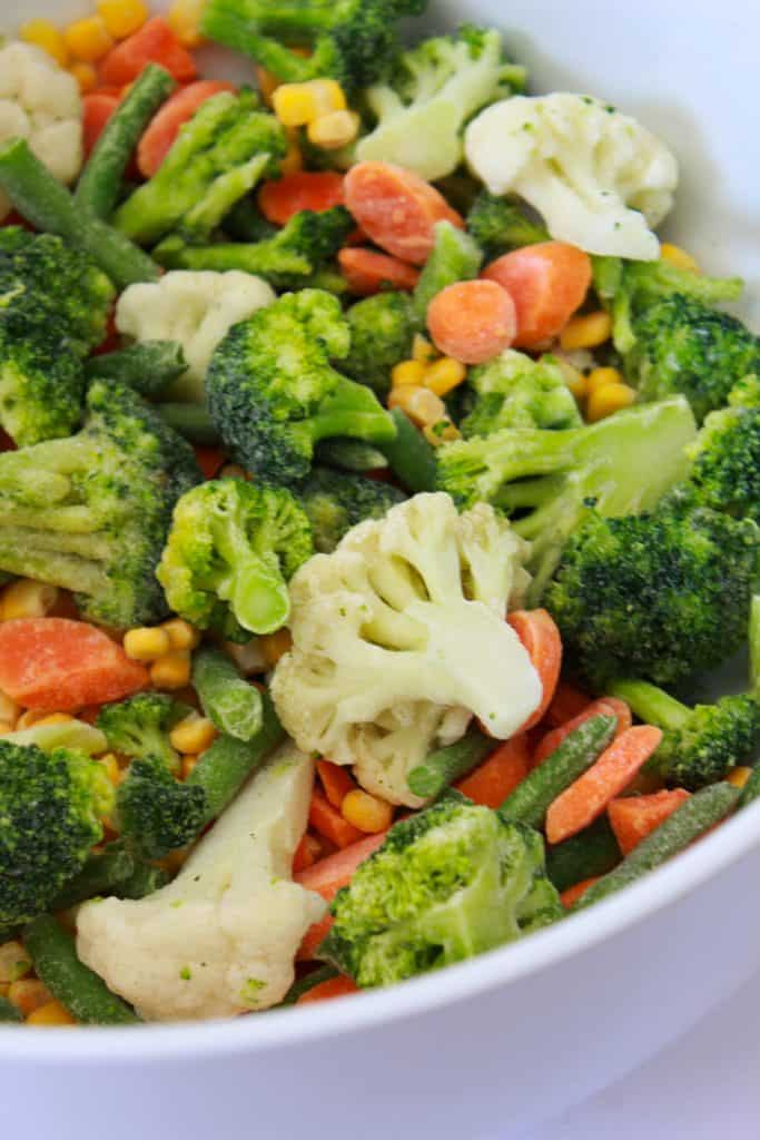 Frozen Vegetable Casserole Recipe featured by top US food blog, Practically Homemade