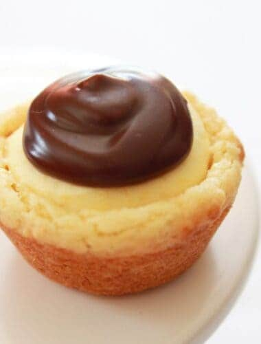 Easy Boston Cream Pie Cookie Bites Recipe featured by top US food blog, Practically Homemade