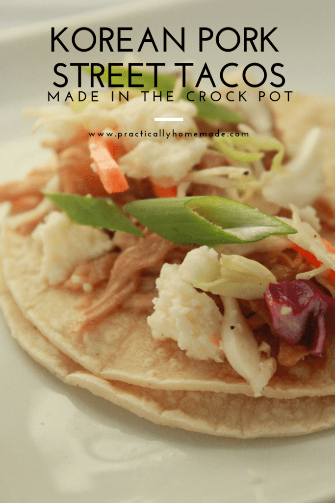 korean port crock pot | korean pork tacos | street tacos | crock pot recipes | crock pot meals | crock pot korean pork