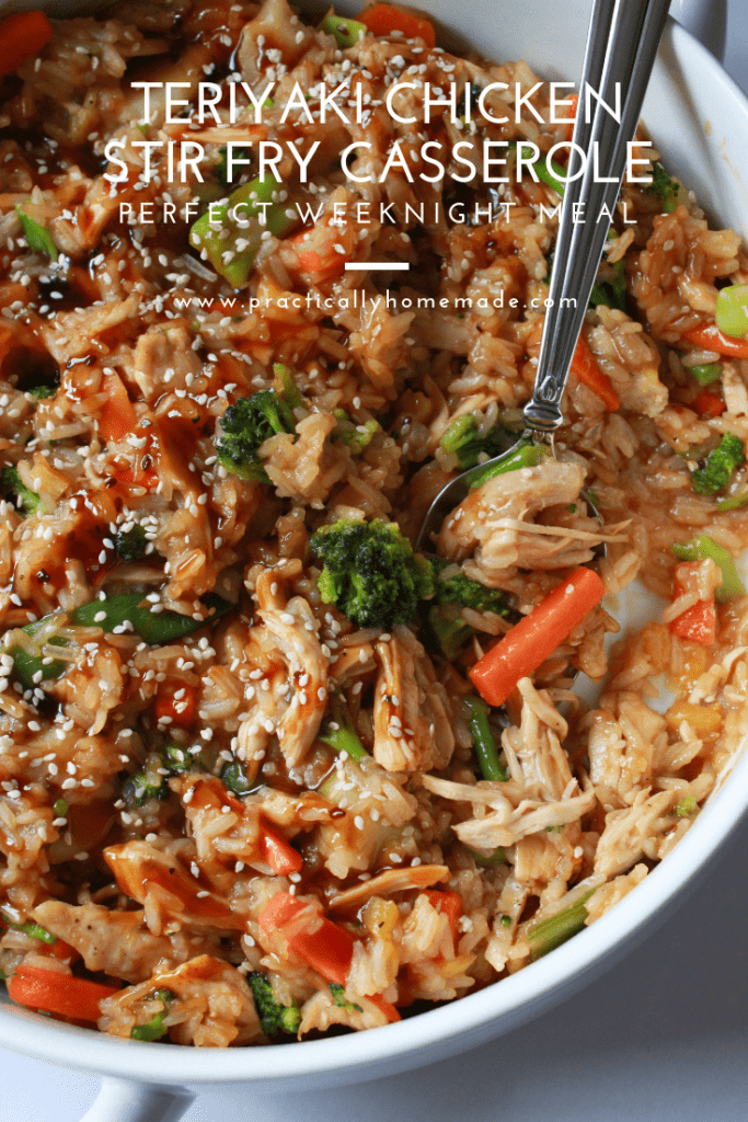 teriyaki chicken stir fry casserole | teriyaki chicken stir fry | teriyaki chicken casserole | chicken and vegetable casserole | teriyaki chicken recipe | chicken casserole | stir fry casserole | stir fry recipe