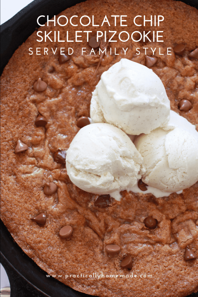 Chocolate Chip Skillet Pizookie