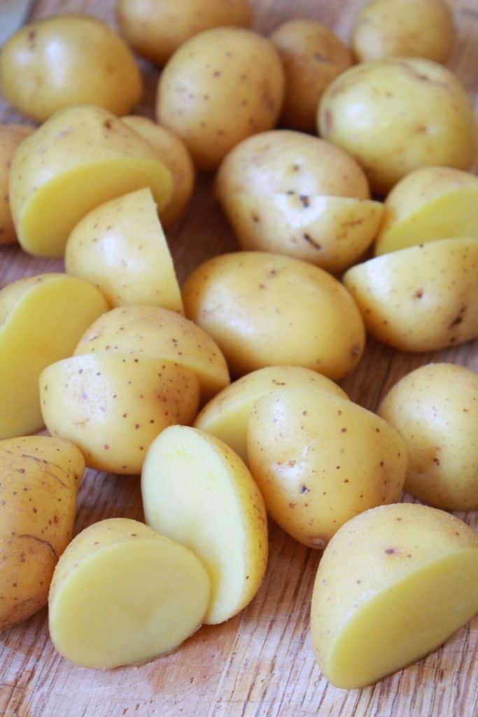 Sheet Pan Cajun Shrimp Boil Recipe featured by top US food blog, Practically Homemade