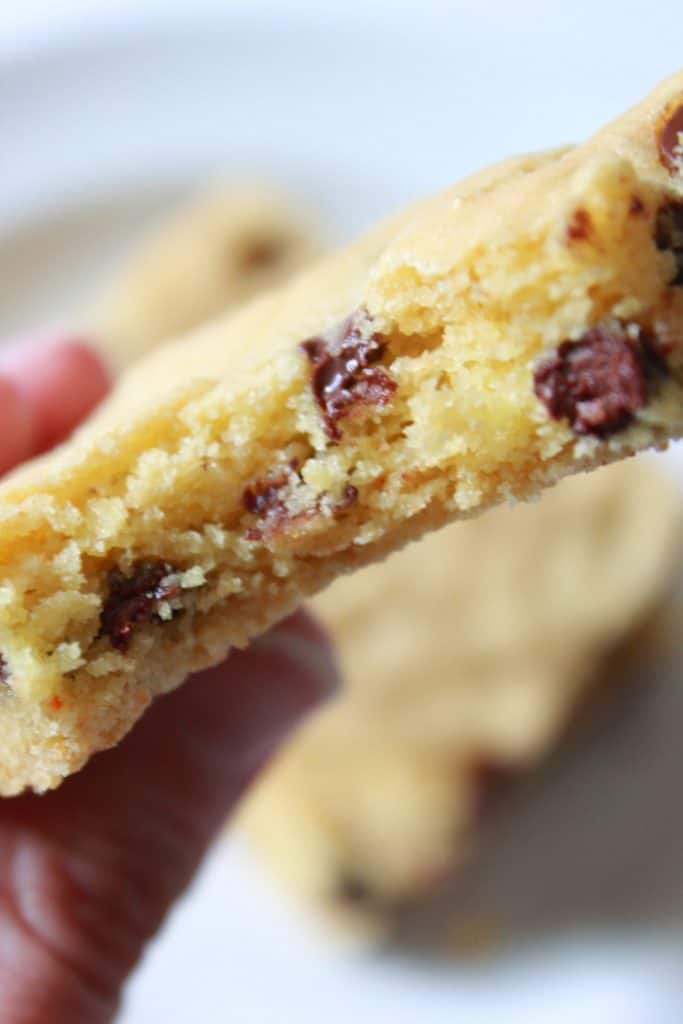 Soft & Chewy Easy Chocolate Chip Cookie Bars featured by top US food blog, Practically Homemade