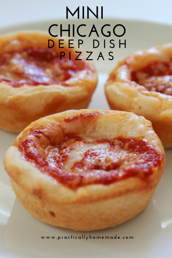 Mini Chicago Deep Dish Pizzas | Chicago Style Pizza | Mini Pizzas | Easy Pizzas