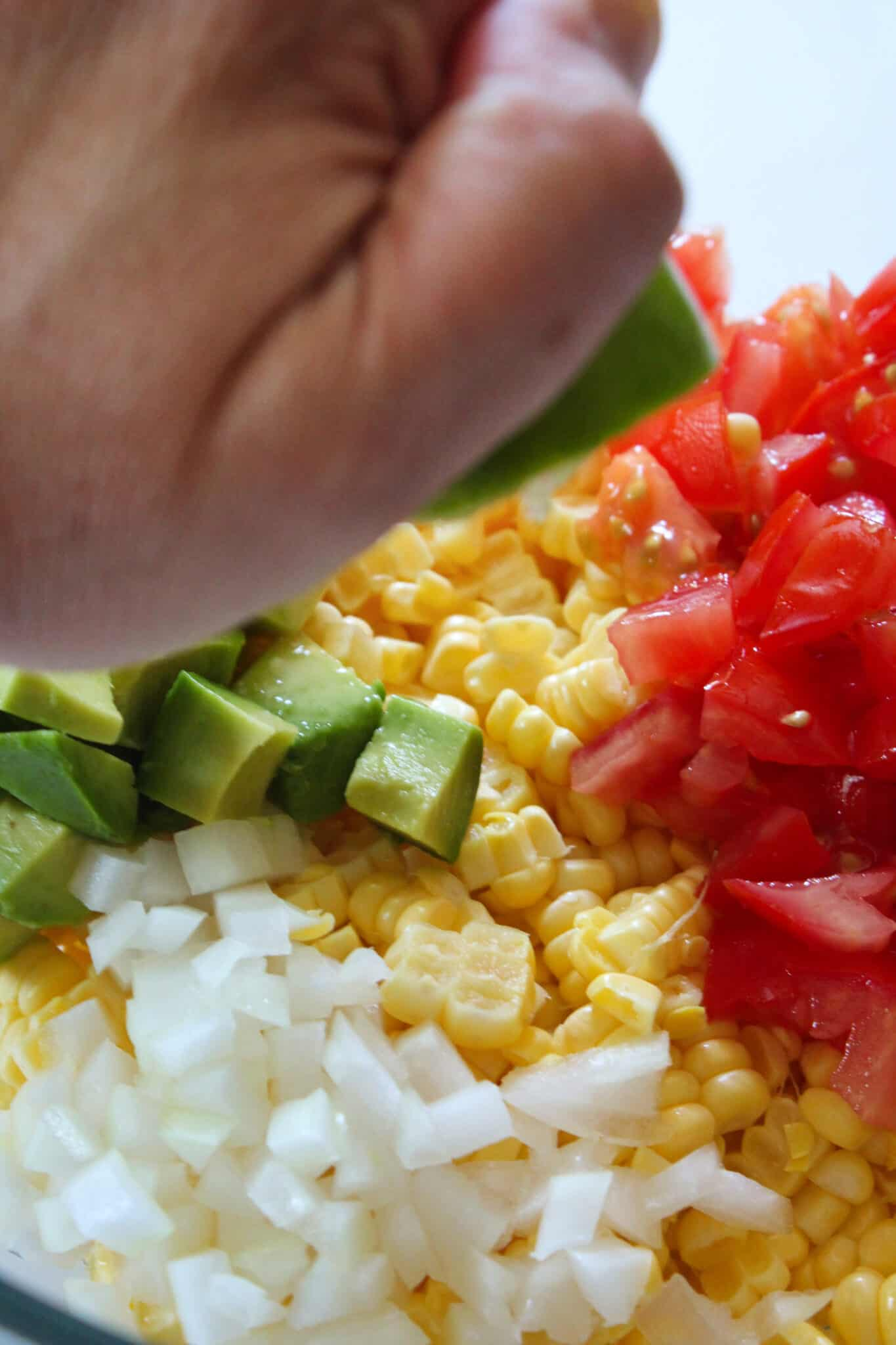 Easy Cowboy Corn Salsa Recipe featured by top US food blog, Practically Homemade