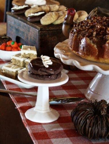 Festive Thanksgiving Dessert Table Ideas featured by top US dessert blog, Practically Homemade