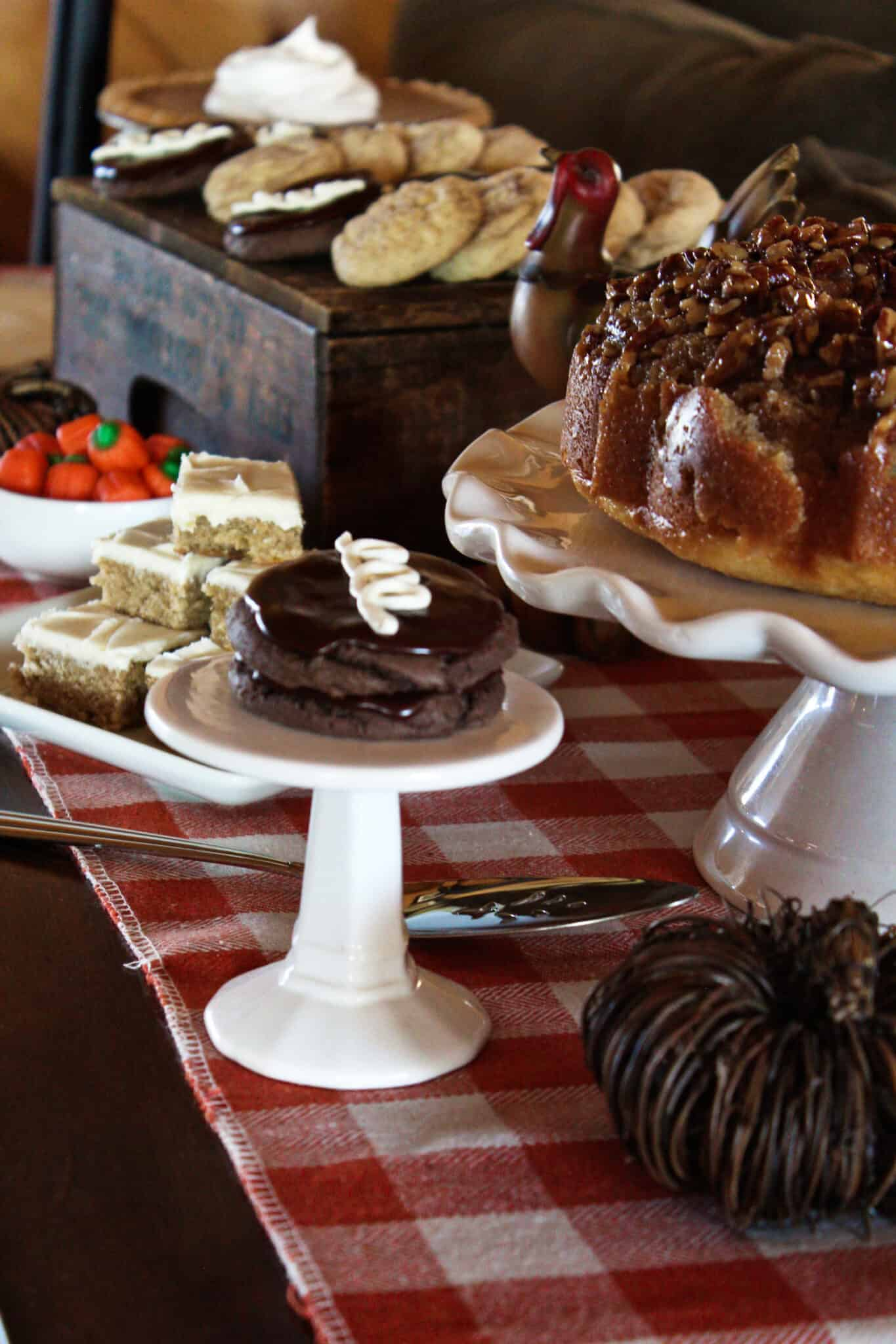 Festive Thanksgiving Dessert Table Ideas featured by top US dessert blog, Practically Homemade