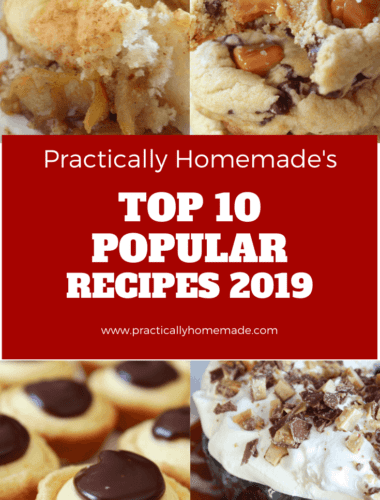 Popular 2019 Recipes featured by top US food blog, Practically Homemade