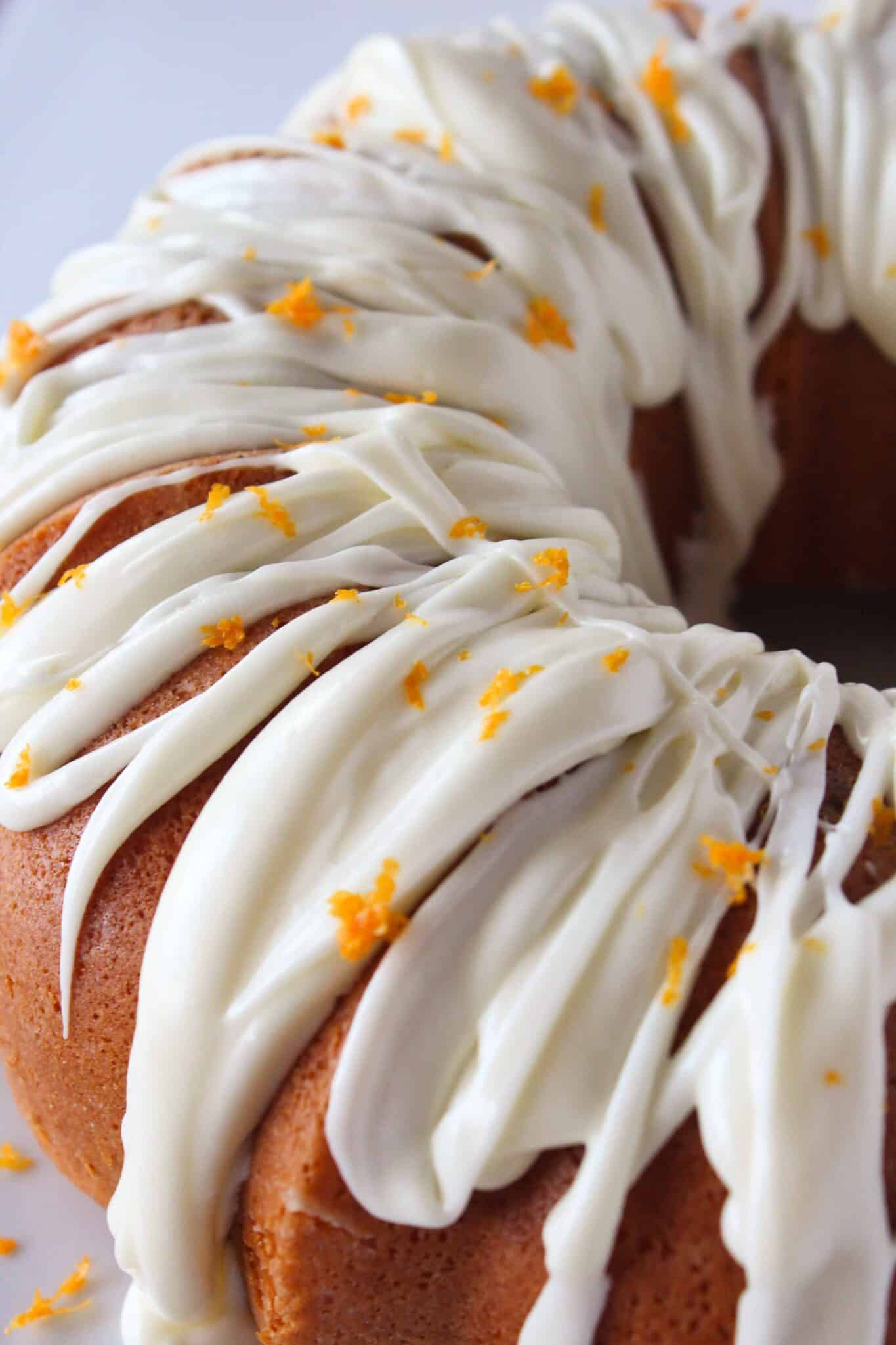 Cranberry Orange Bottom Bundt Cake Recipe featured by top US dessert blog, Practically Homemade