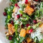 Cozy Winter Salad Recipe featured by top US food blog, Practically Homemade