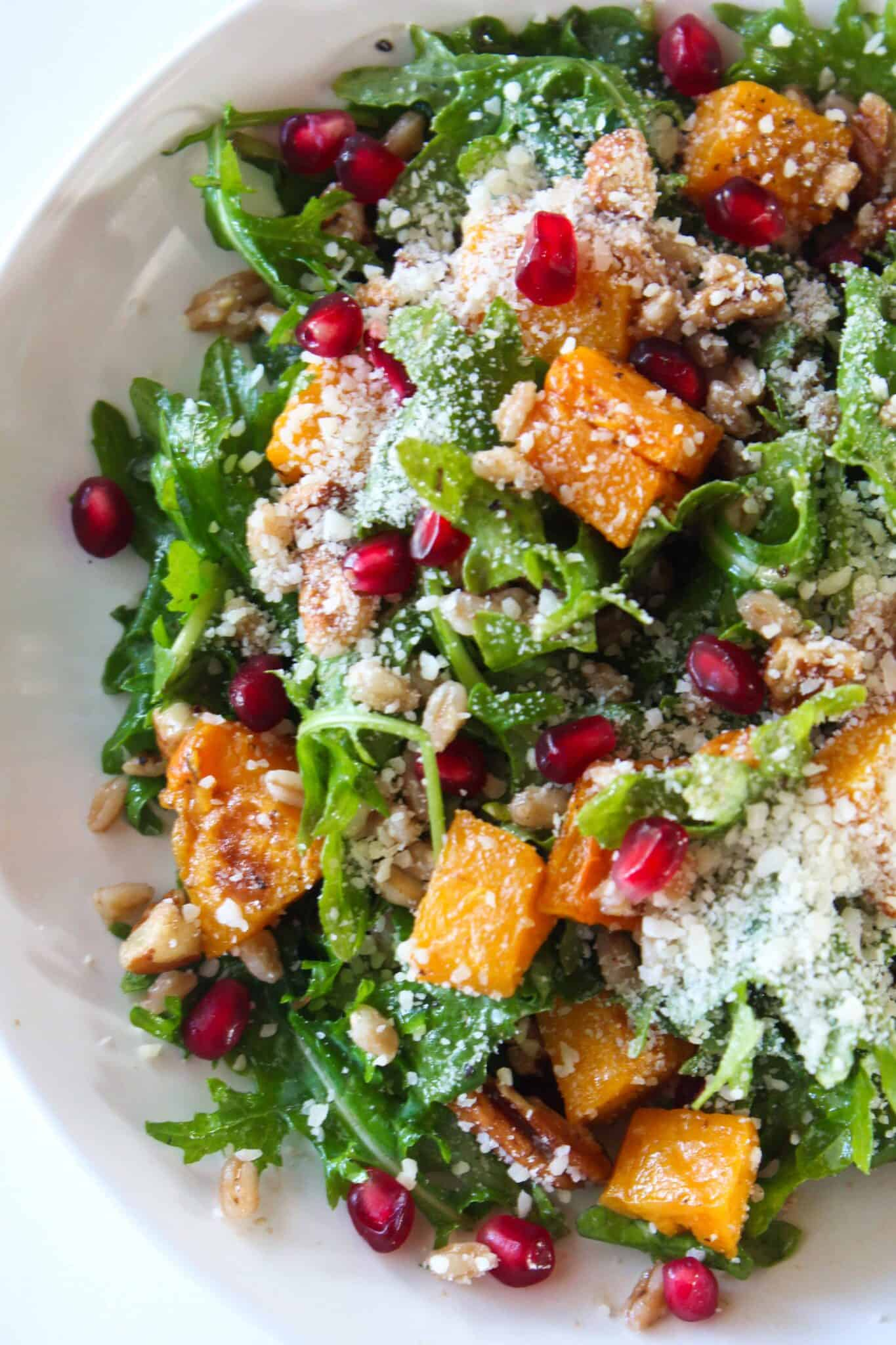 Cozy Winter Salad Recipe featured by top US food blogger, Practically Homemade