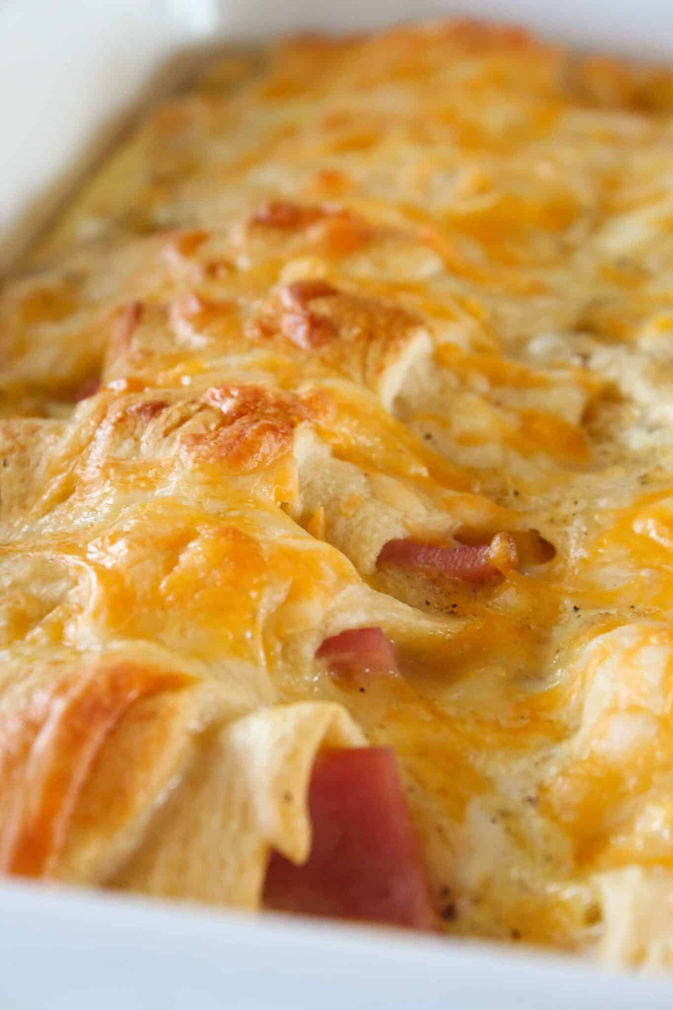 Christmas Leftovers: Easy Ham Breakfast Casserole featured by top US food blog, Practically Homemade