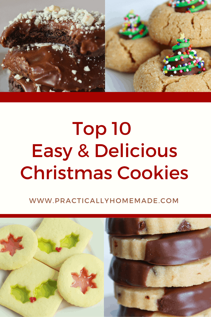 Easy and Delicious Christmas Cookies Recipes for the Holidays featured by top US cookie blog, Practically Homemade: peanut butter blossom cookies