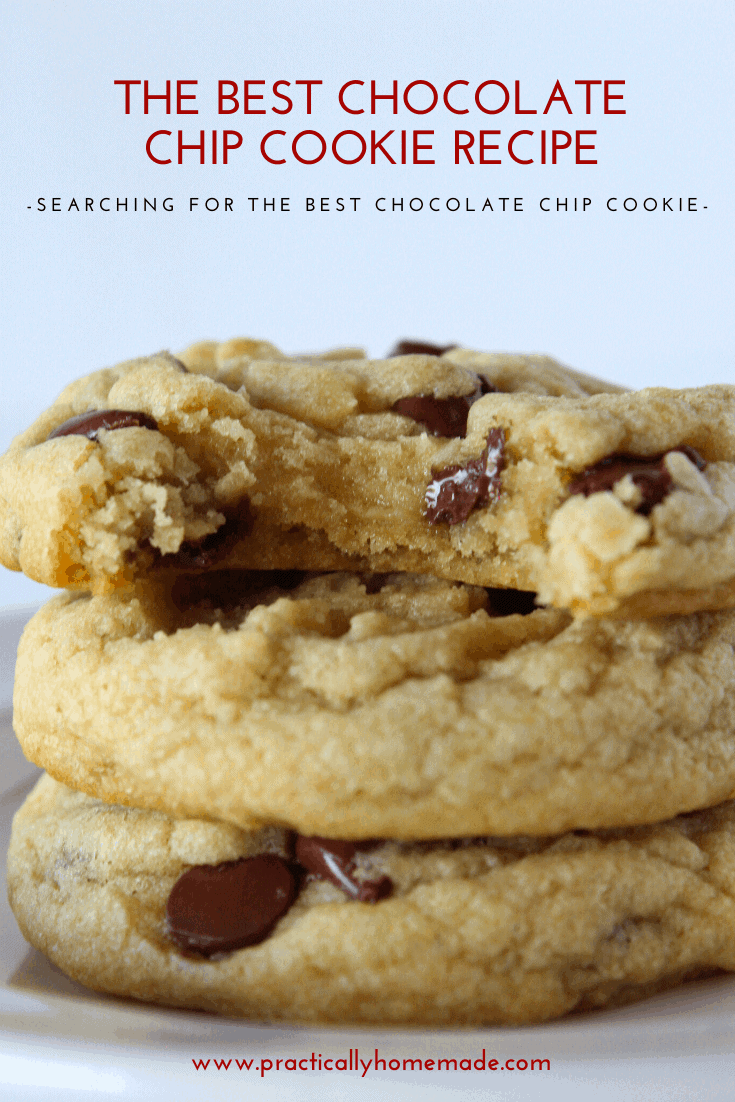 Best Soft Chocolate Chip Cookie recipe featured by top US cookie blog, Practically Homemade