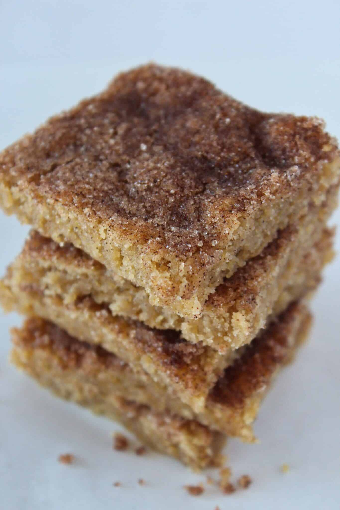 Churro Bars Recipe featured by top US dessert blog, Practically Homemade