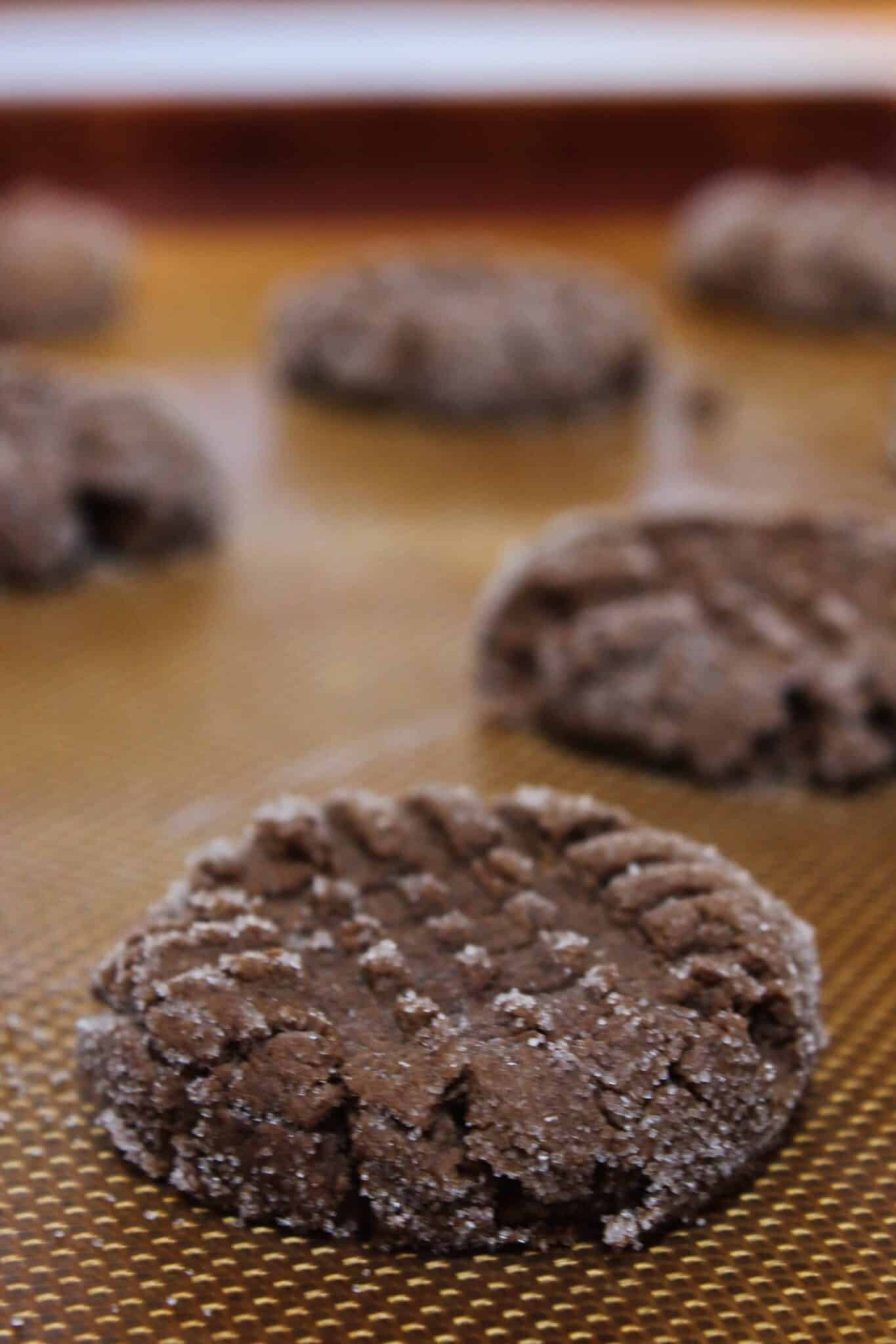 Chocolate Cake Mix Cookies with Peanut Butter featured by top US cookies blogger, Practically Homemade.