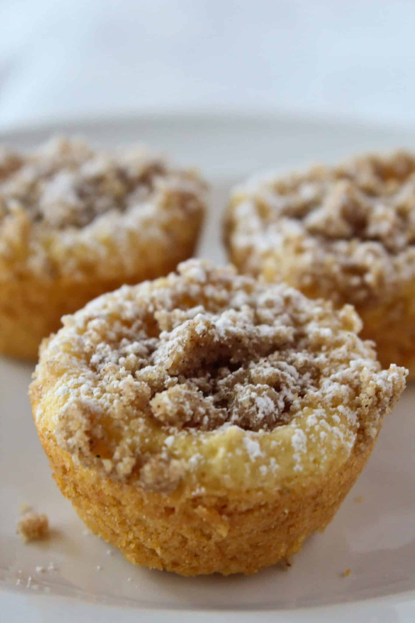 Crumb Cake Bites Recipe featured by top US dessert blog, Practically Homemade