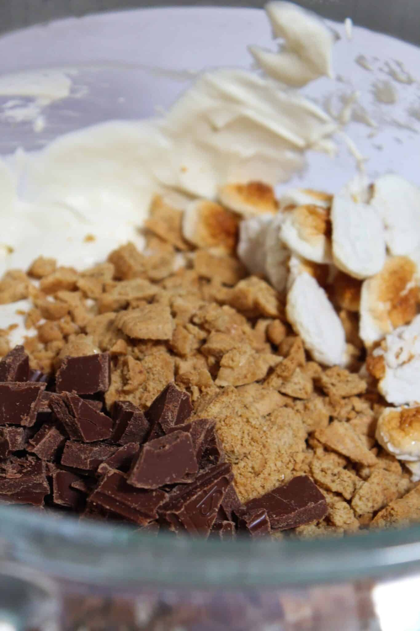 No Churn S'mores Ice Cream Recipe featured by top US dessert blog, Practically Homemade.