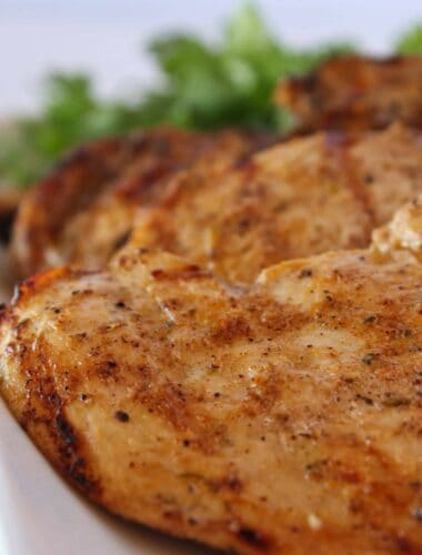 Easy Chicken Marinade Recipe featured by top US food blogger, Practically Homemade