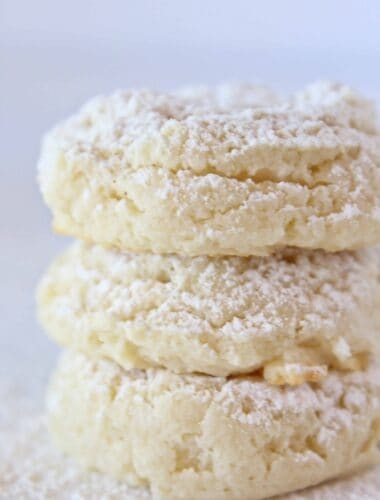 Cream Cheese Cake Mix Cookies Recipe featured by top US cookies blog, Practically Homemade