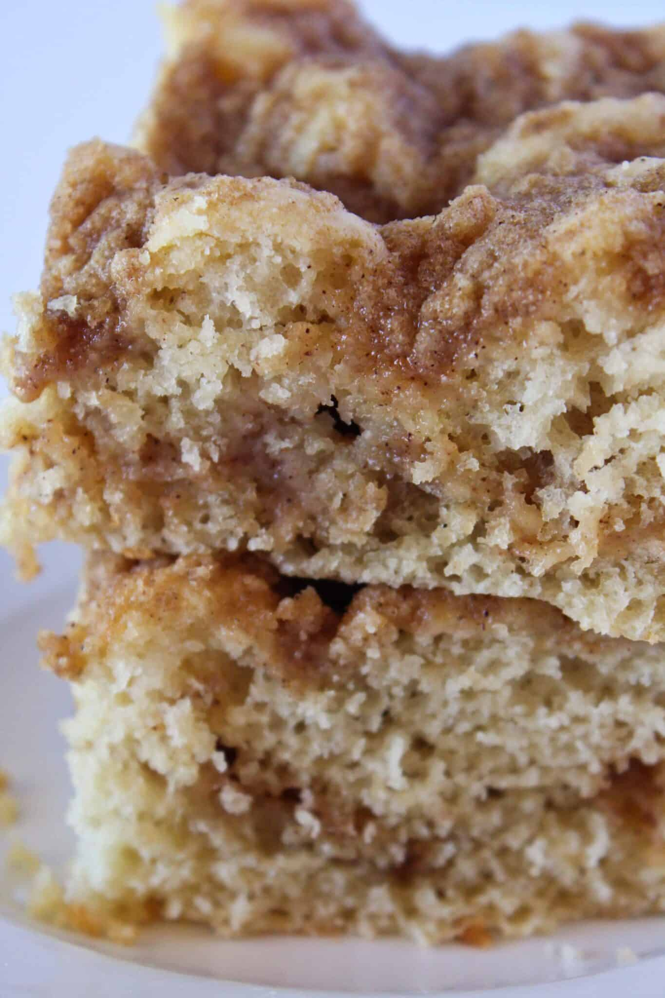 Easy Breakfast Ideas: Pancake Mix Coffee Cake Recipe featured by top US food blogger, Practically Homemade