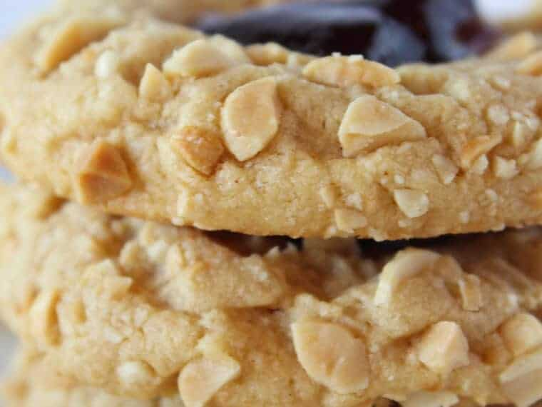 PB & J Cookies Recipe with a cake mix featured by top US cookies blogger, Practically Homemade