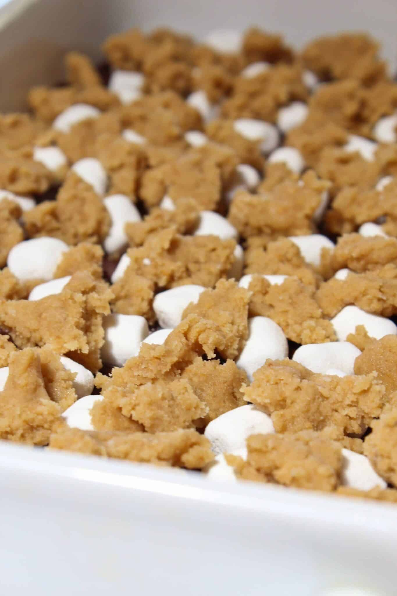 Fun S'mores Cookie Bars Recipe featured by top US cookie blogger, Practically Homemade