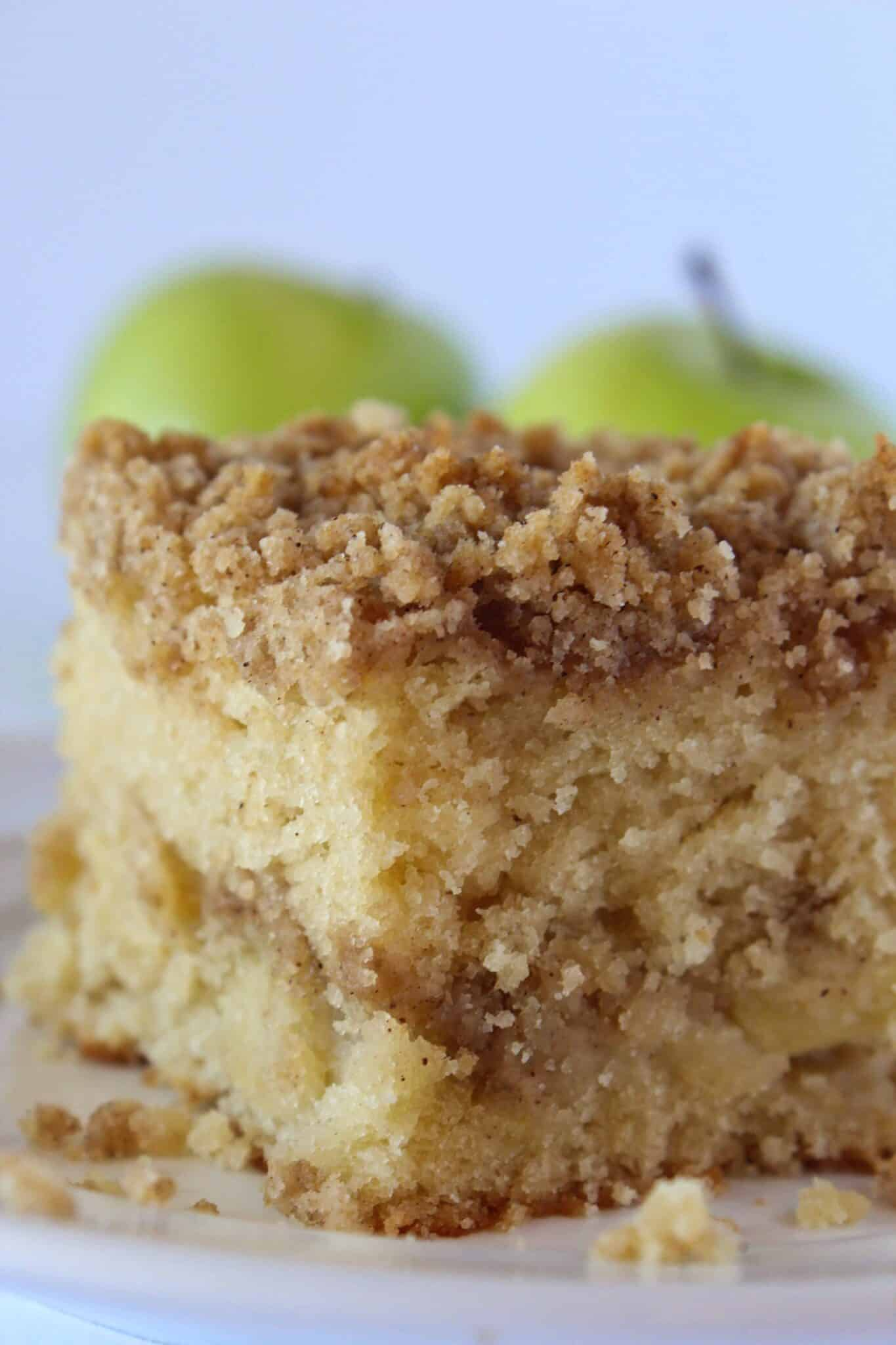 Fall Desserts: Apple Crumb Cake Recipe featured by top US desserts blogger, Practically Homemade