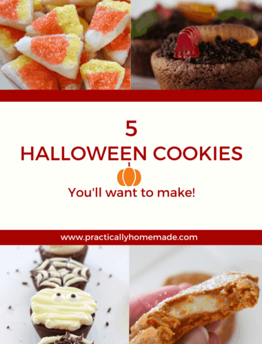 Halloween Treat Ideas: 5 Easy Halloween Cookies featured by top US cookie blogger, Practically Homemade.