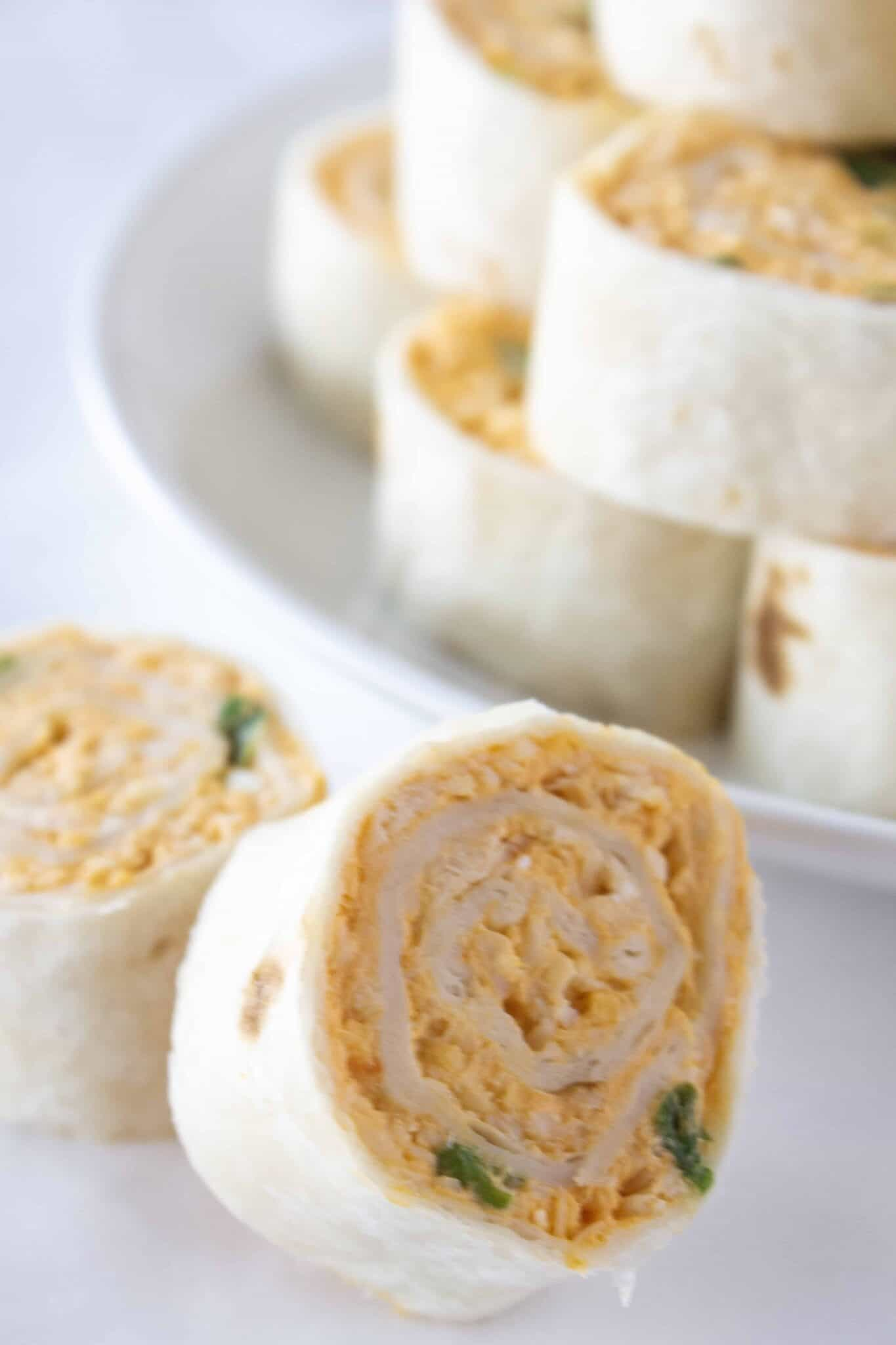 How to Make Buffalo Chicken Tortilla Wraps, a recipe featured by top US food blogger, Practically Homemade.