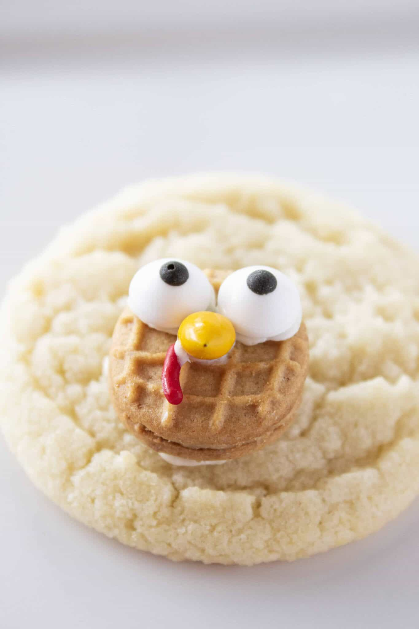 Easy Turkey Cookies Recipe featured by top US cookie blogger, Practically Homemade