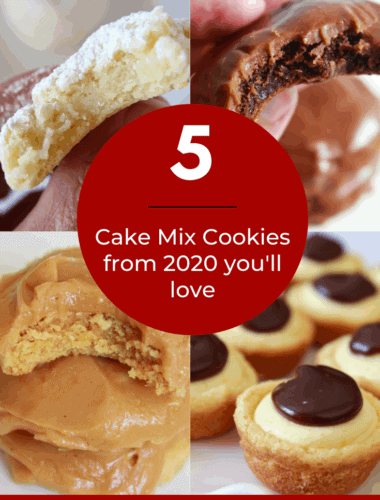 Best Cake Mix Cookies of 2020: Top 5 Easy Cookie Recipes You'll Love featured by top US cookie blogger, Practically Homemade.