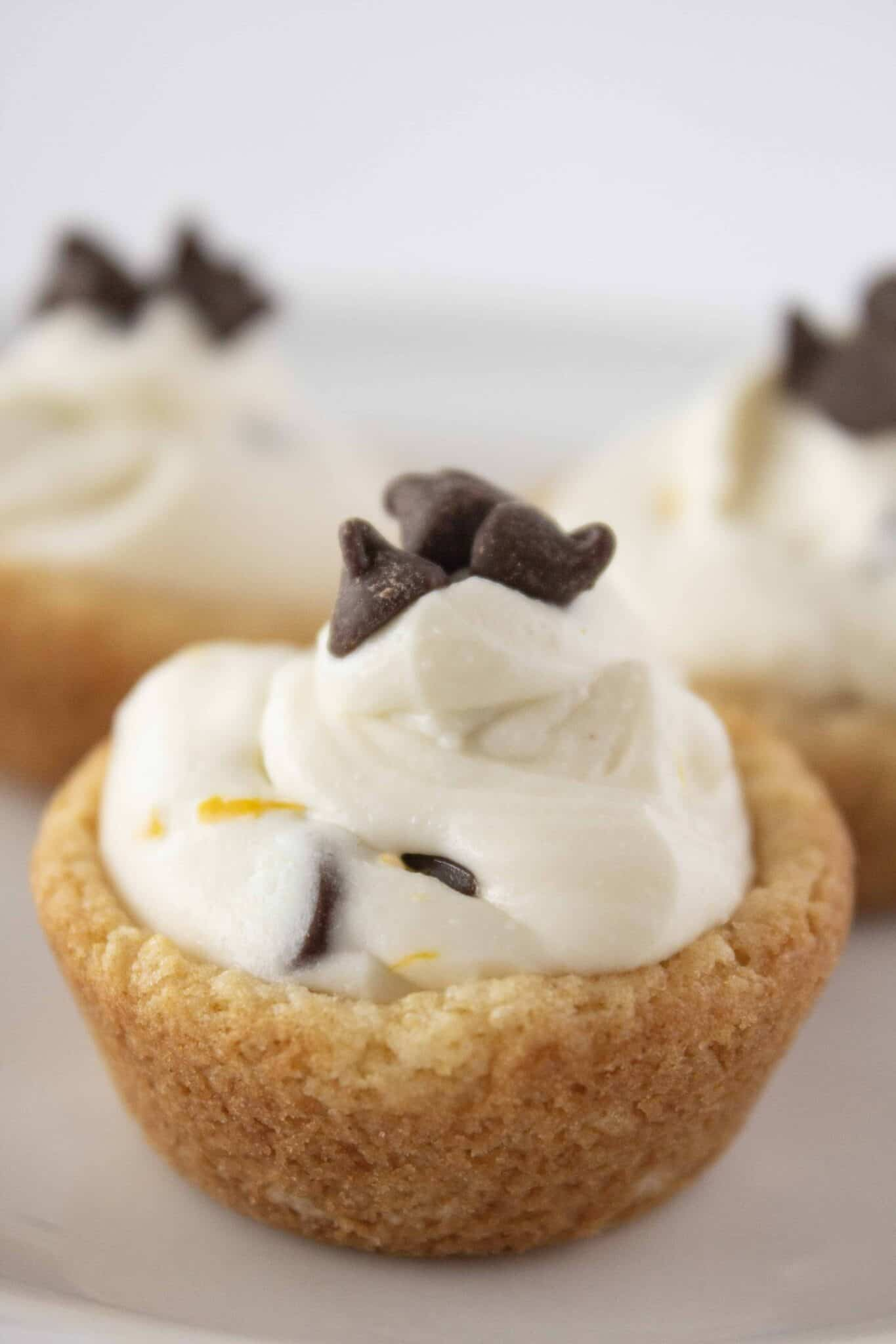 Cannoli Cookie Cups Recipe featured by top US cookie blogger, Practically Homemade