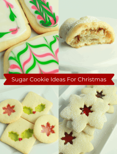 Fun Sugar Cookie Ideas for Christmas featured by top US cookie blogger, Practically Homemade