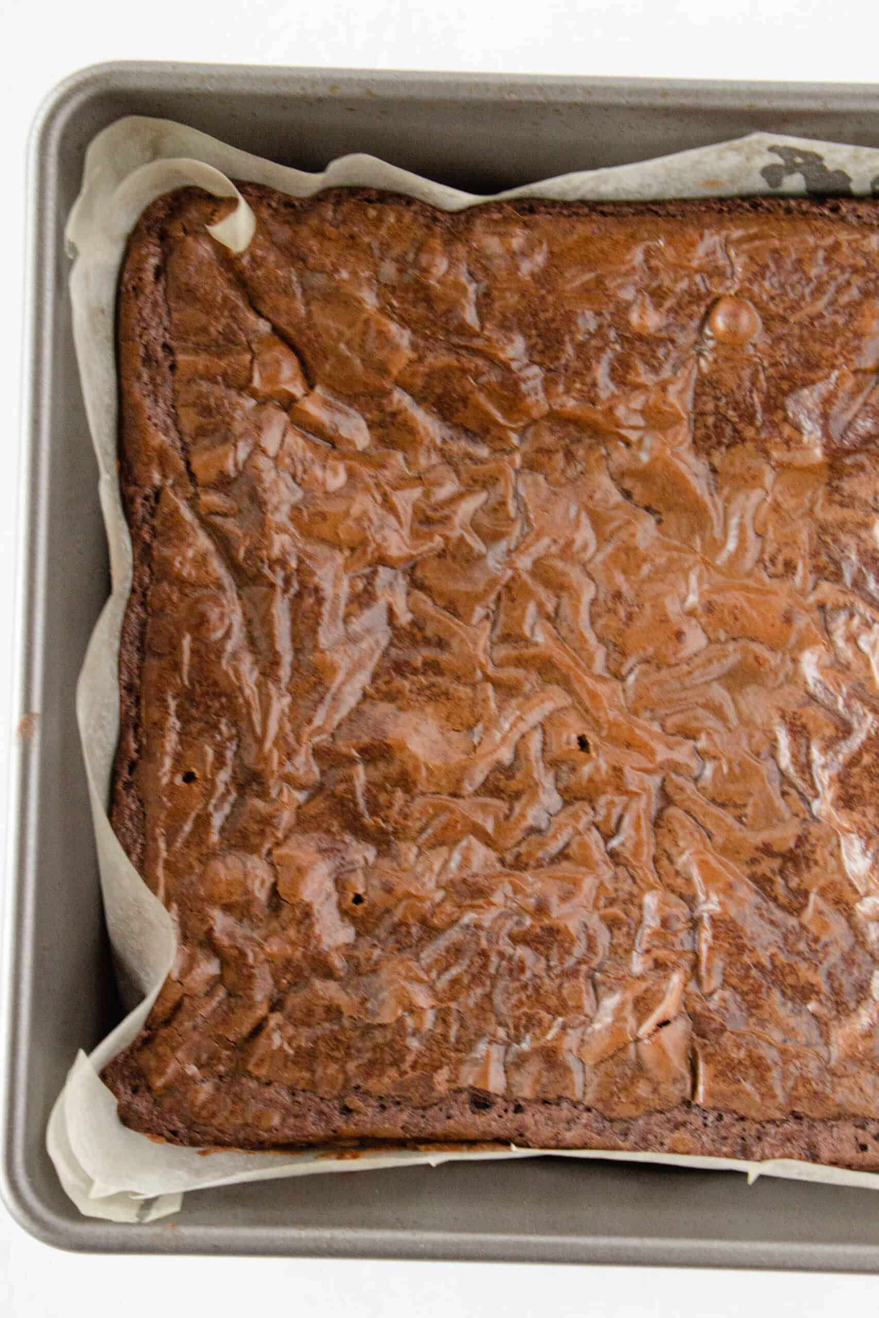 Easy Cookie Dough Brownies Made with a Brownie Mix featured by top US dessert blogger, Practically Homemade
