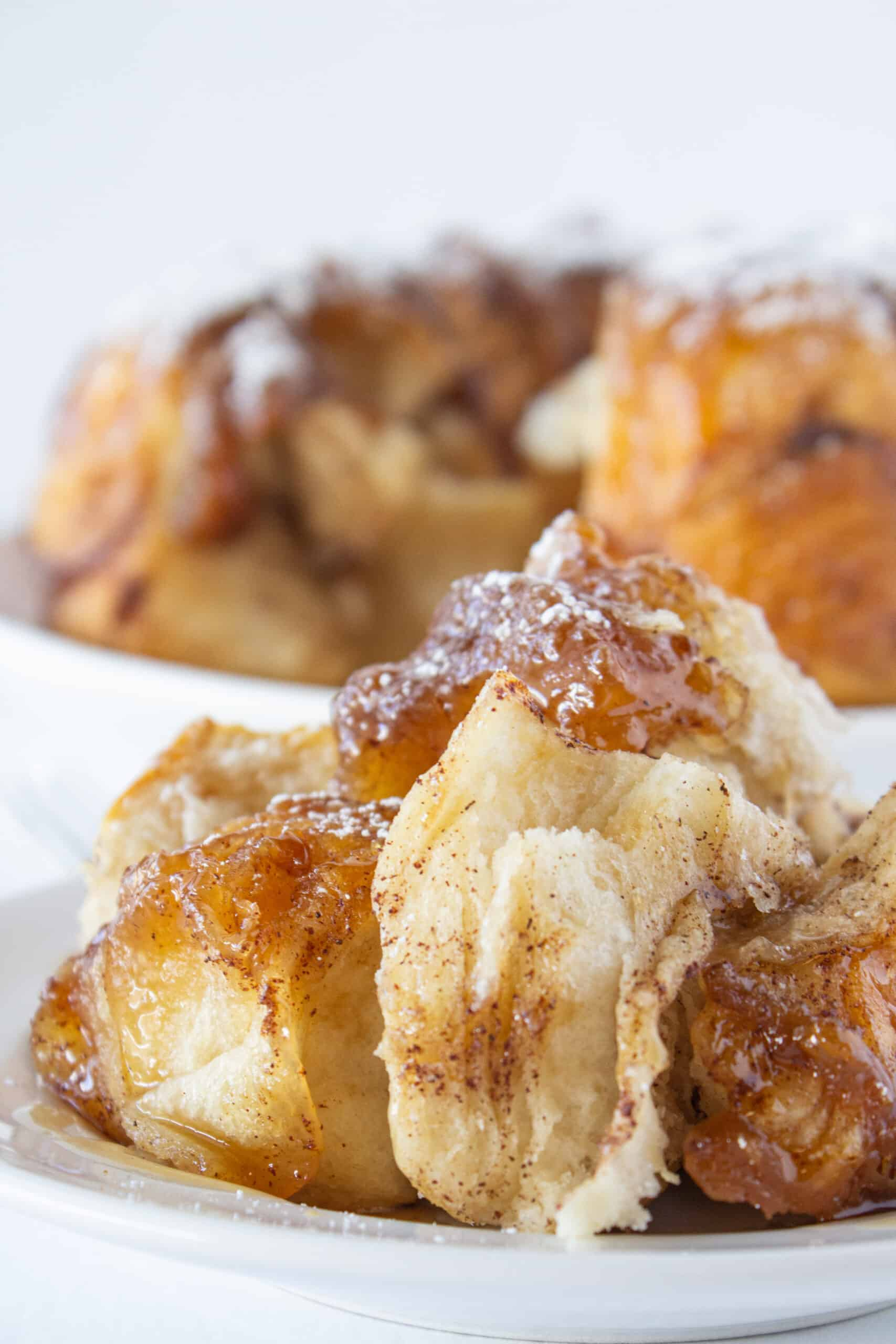 French Toast Monkey Bread Recipe, Easy Breakfast Idea featured by top US food blogger, Practically Homemade